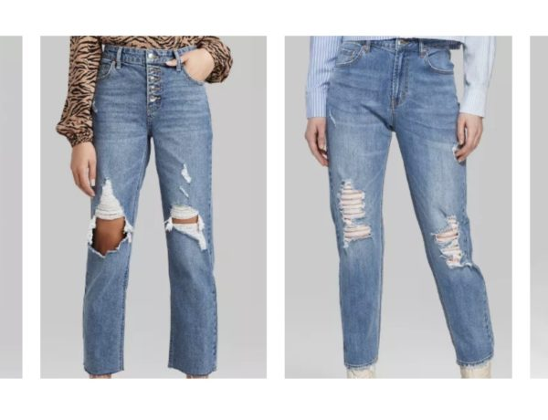ripped mom jeans outfit ideas as well as the best affordable mom jeans under $25 from wild fable at target review