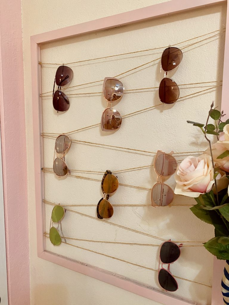 cute and practical room decor for spring 2020 ~ girly and pink fashion style blog ~ pink rose flowers sunglasses holder easy cheap simple affordable cute pretty summer spring lush