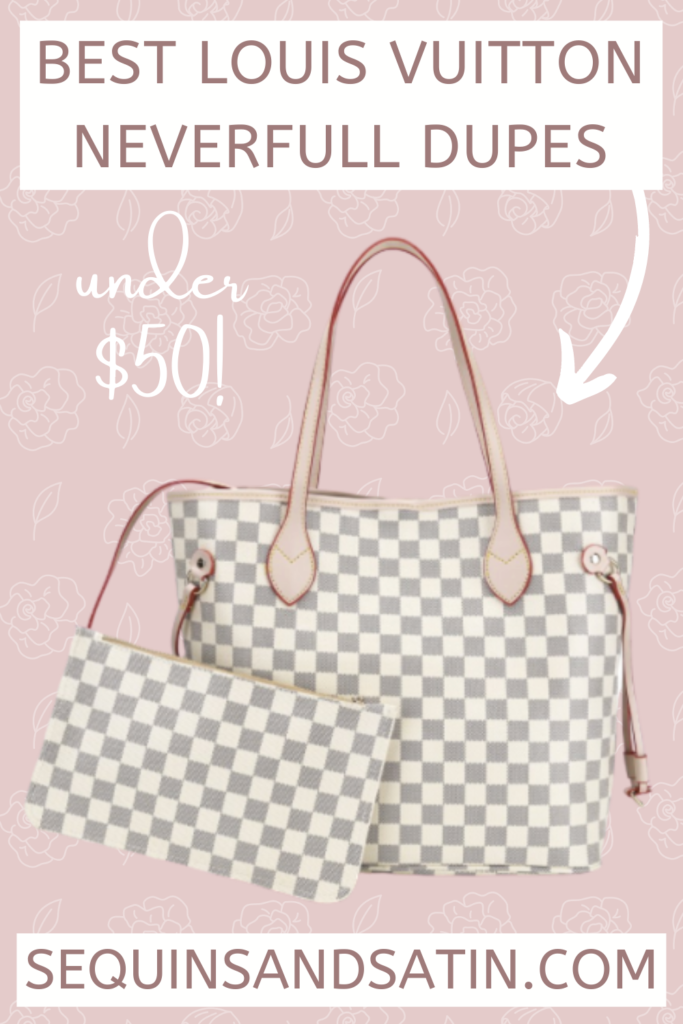 Best Louis Vuitton Neverfull Dupes Under $50 | Walmart Fashion Finds | Sequins And Satin Fashion Blog