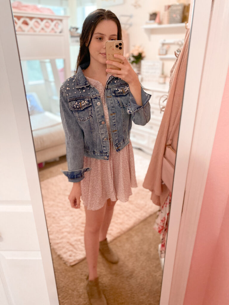 Affordable Pearl Denim Jacket Outfit | How To Style A Pearl Jean Jacket