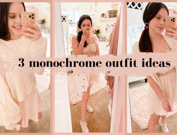white monochromatic outfit ideas