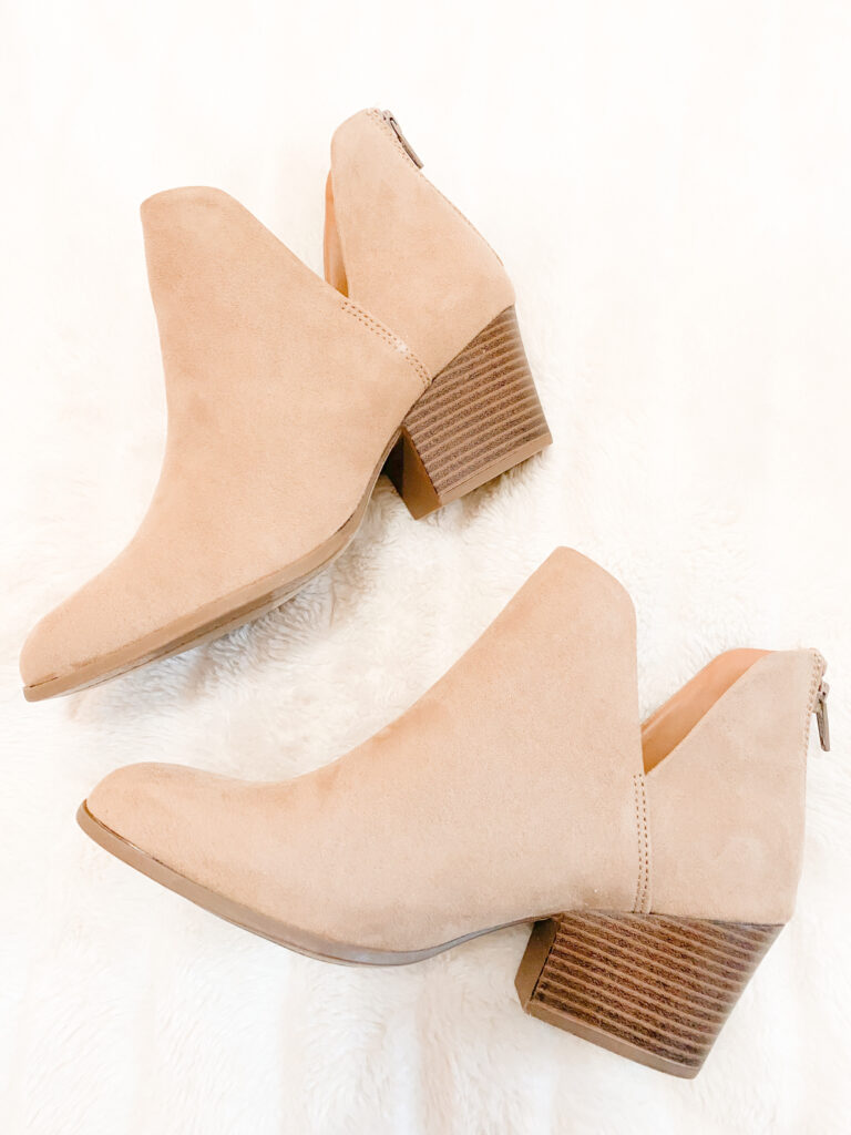 light taupe ankle booties, light tan booties