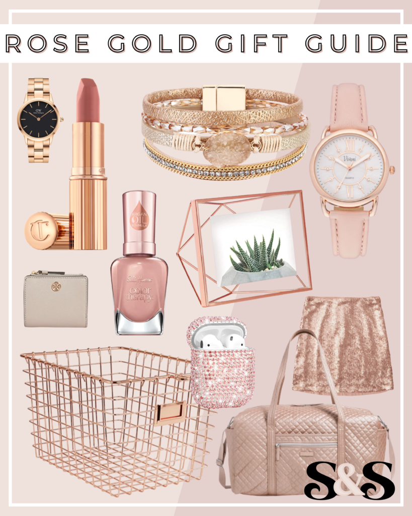 rose gold gifts, rose gold gift ideas, rose gold gift guide