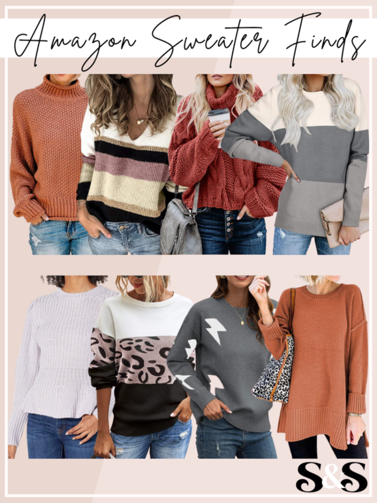 amazon sweater finds, amazon fashion, amazon sweaters, best amazon sweaters
