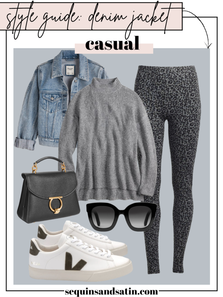 casual denim jacket outfit