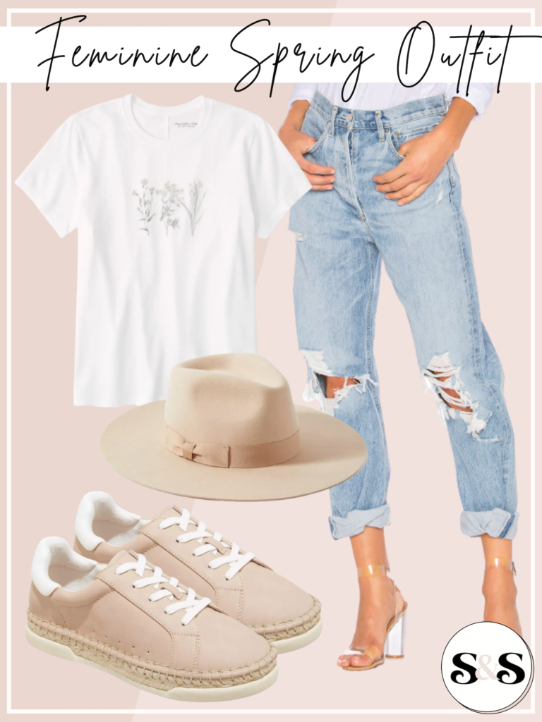 feminine spring outfit
