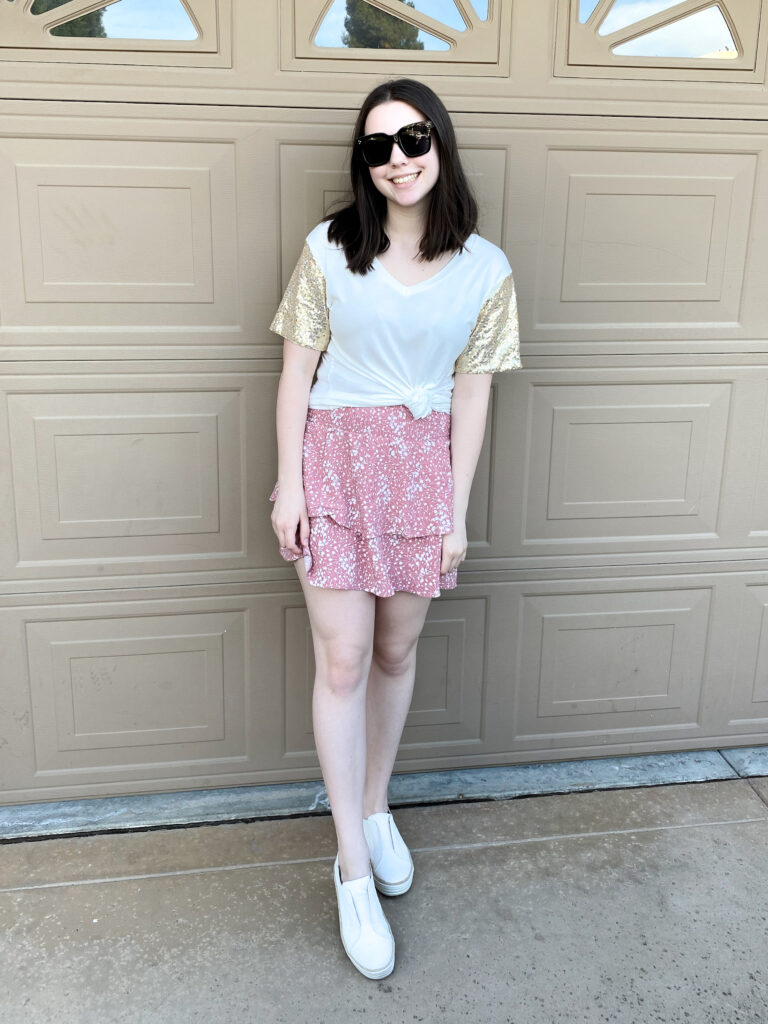 spring skirt outfit