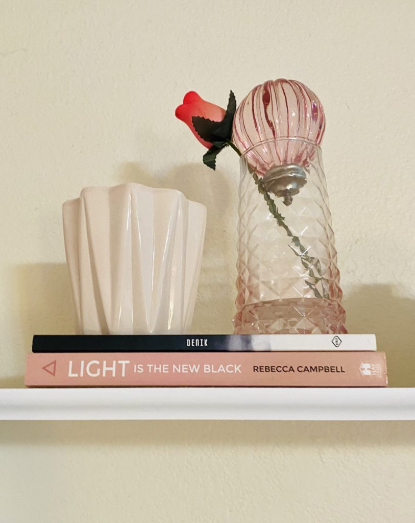 cute and practical room decor for spring 2020 ~ girly and pink fashion style blog ~ pink book with pink candle and pink vase easy affordable cheap simple decor