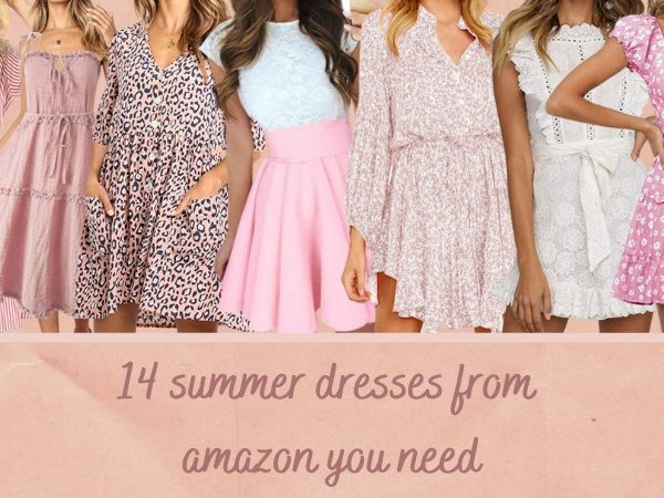 summer dresses from amazon review, review of girly, pink, cheetah and floral print dresses