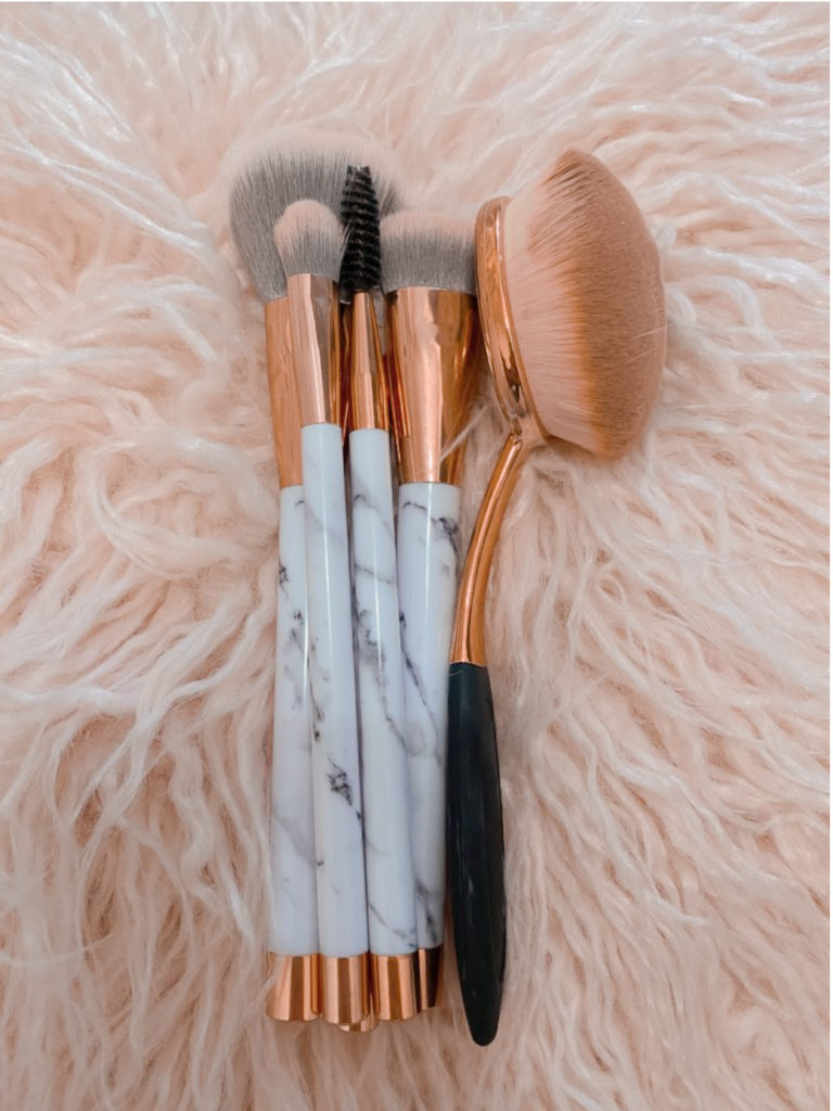 the best affordable beauty products ~ girly and pink fashion blog ~ sequins and satin ~ cheap cute marble rose gold makeup brushes