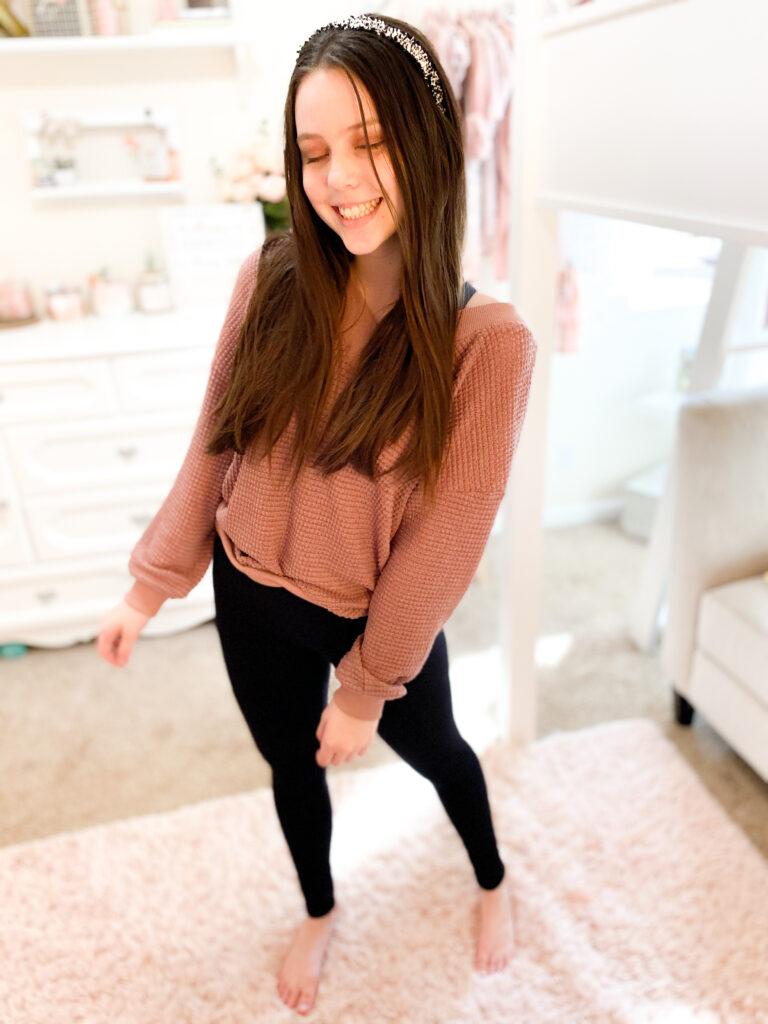 cute amazon sweatshirt, pink sweatshirt, amazon sweater, amazon finds