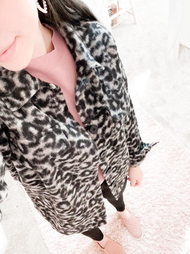leopard shacket