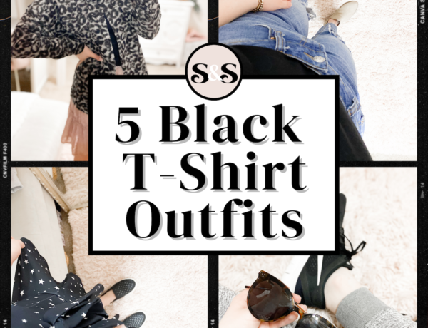 black t-shirt outfits, black tee outfits, basic tee outfits, how to style a basic tee, how to style a basic t-shirt