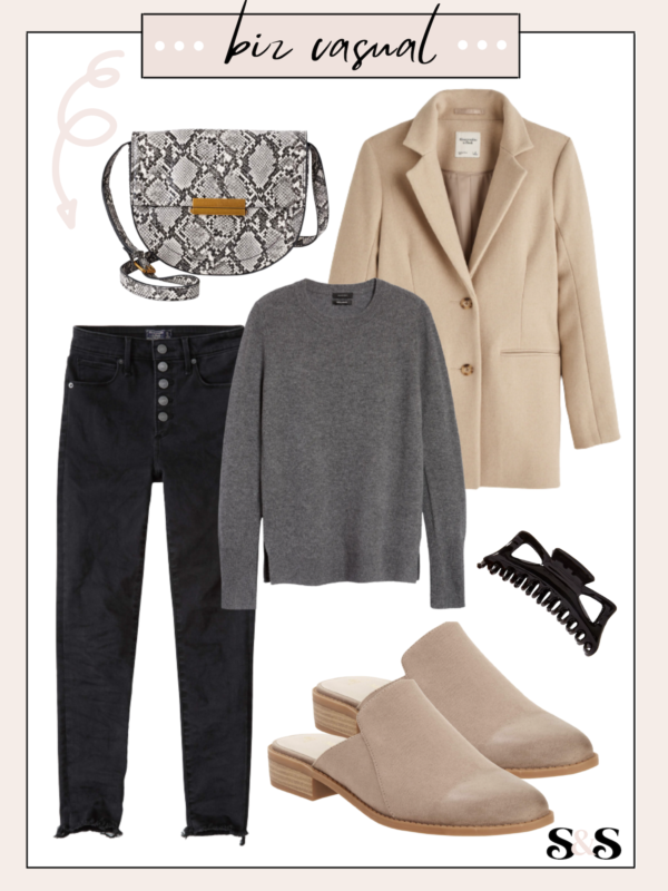 business casual outfit for neutral workwear