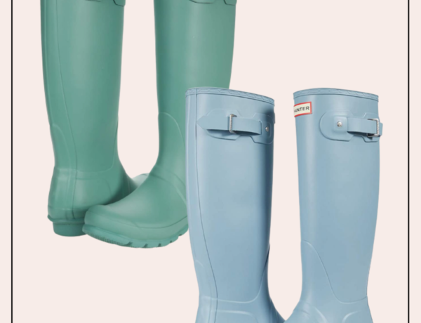 pastel hunter boots for rainy spring days