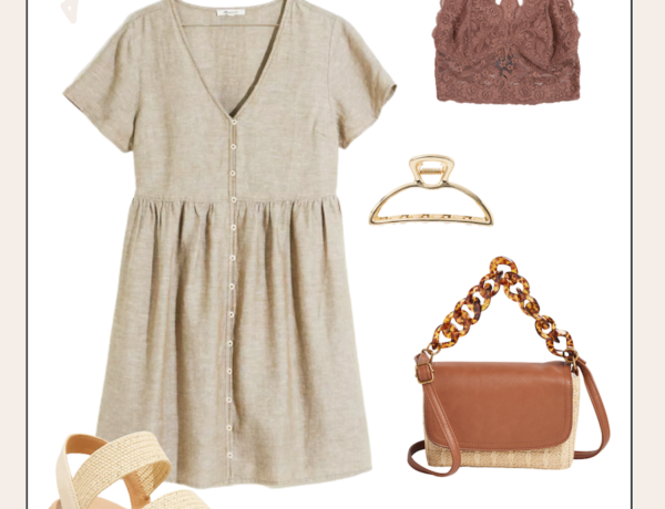 neutral summer outfit