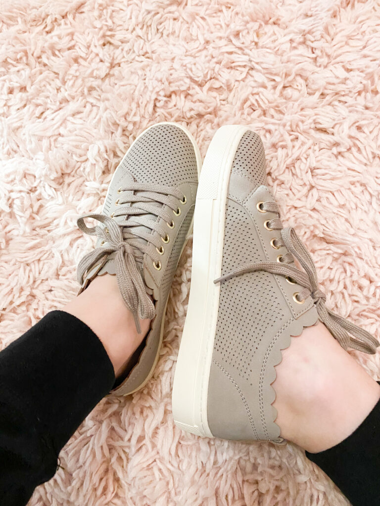 cute taupe sneakers