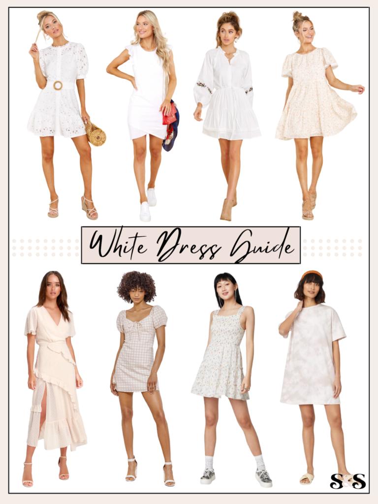 white dress guide