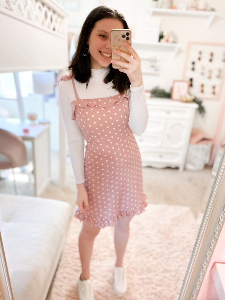 dress over tee outfit