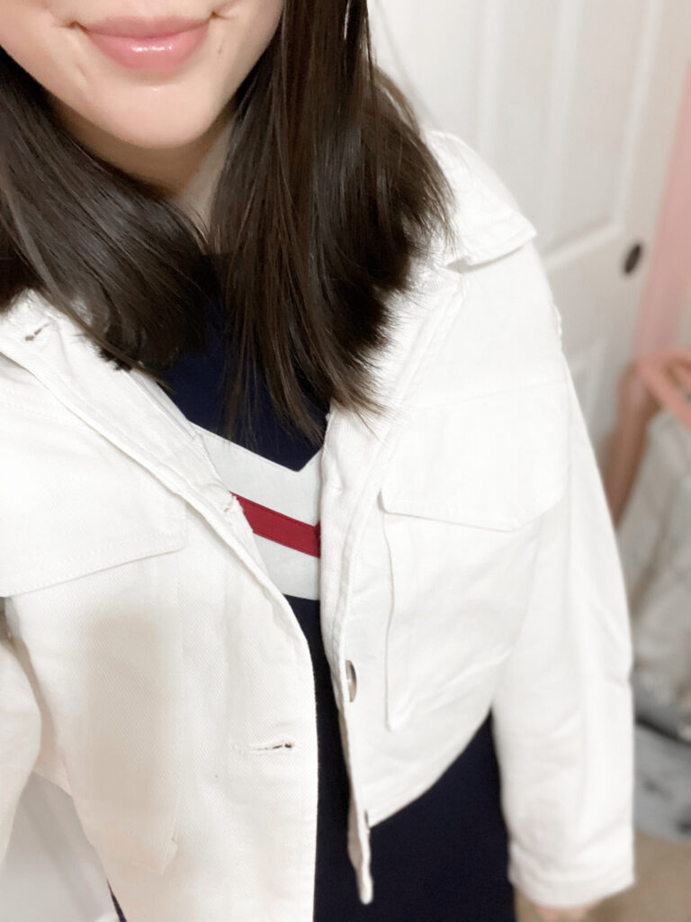 white shacket outfit