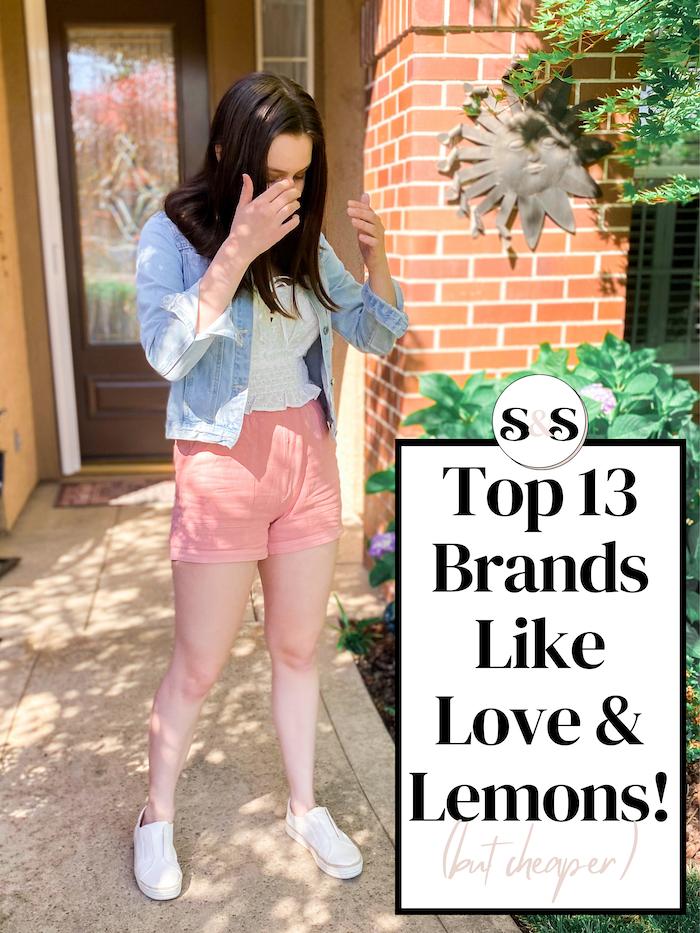brands like for love and lemons but cheaper!