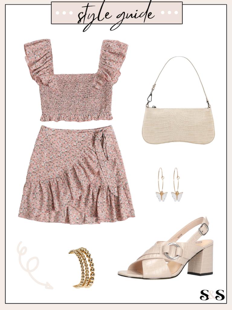 summer skirt set