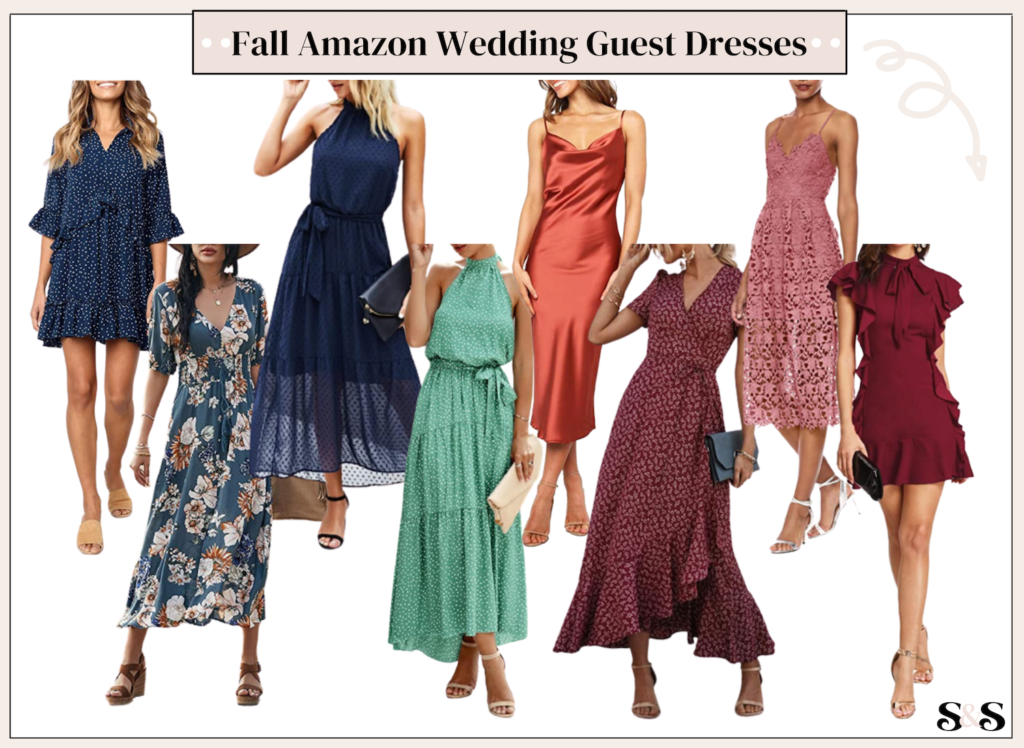 best fall wedding guest dresses on amazon