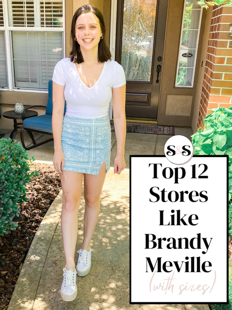 best stores like brandy melville but with sizes