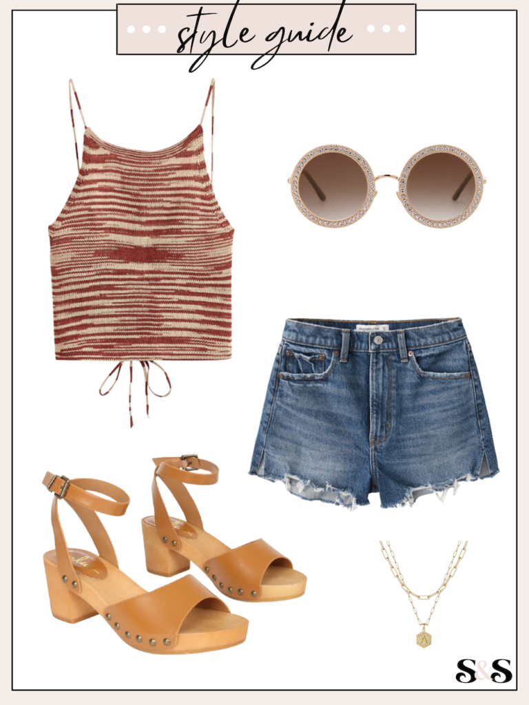 knit tank outfit