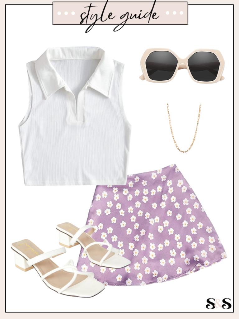 slip skirt outfit